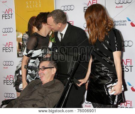 LOS ANGELES - NOV 12:  Kristen Stewart, Richard Glatzer, Wash Westmoreland, Julianne Moore at the