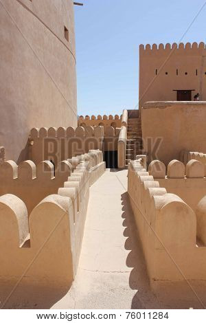 Nizwa Fort Castle from the terrace