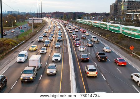 Traffic On The Gardiner Express