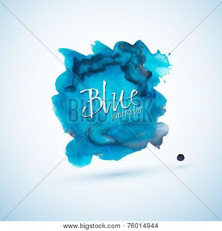 Blue Watercolor Splash Design Element