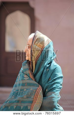 Old Woman with veil