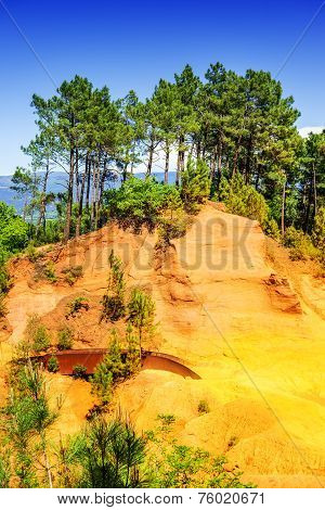 Ochre Cliffs Near Roussillon, Provence, France