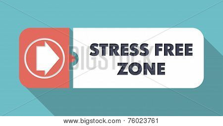 Stress Free Zone on Orange Background in Flat Design.