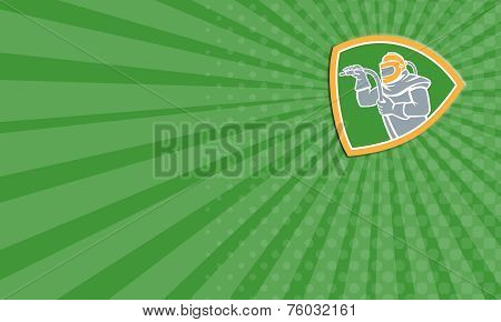 Business Card Sandblaster Sandblasting Hose Shield Retro