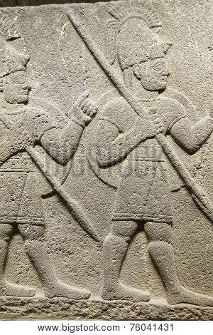 Soldier Carrying Spear
