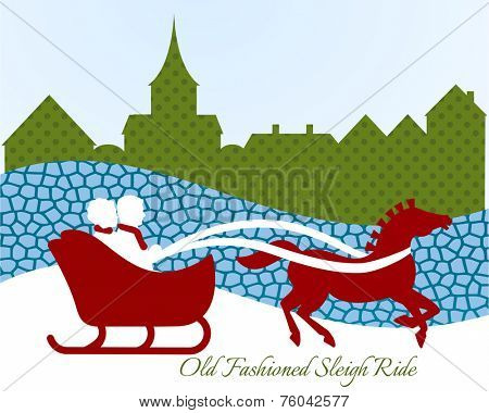 Old fashioned sleigh ride