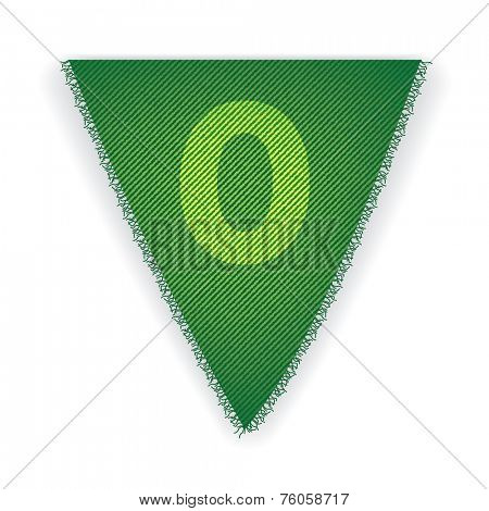 Bunting flag number 0 - eps 10 vector illustration