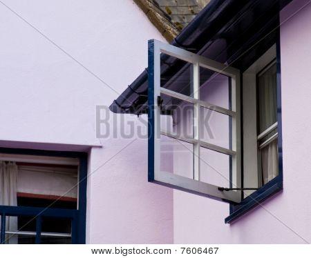 Open Window, Purple Wall