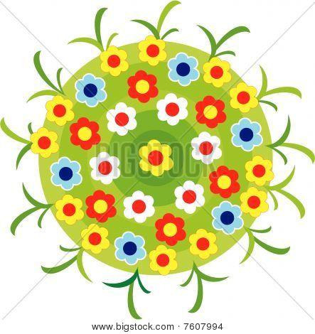 Vector illustration - flower bed.