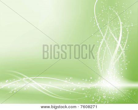 Zelená krásná pastelově pozadí s hvězdami a víry.
