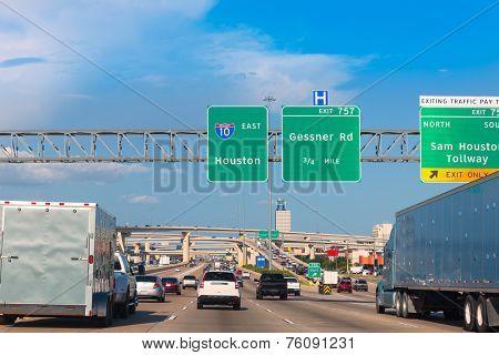 Houston Katy Freeway Fwy traffic 10 interstate in Texas USA US