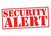 SECURITY ALERT red Rubber Stamp over a white background. poster