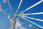 abstract detail Millennium Bridge in Podgorica, Montenegro poster