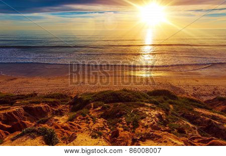 Sunny California Beach