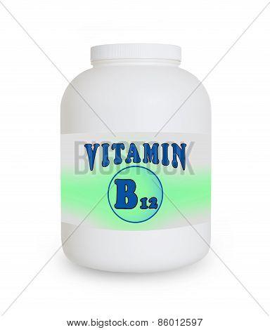 Vitamin B12 Container