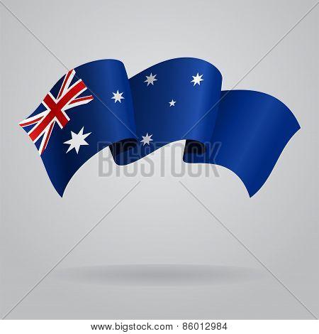 Australian waving Flag. Vector illustration