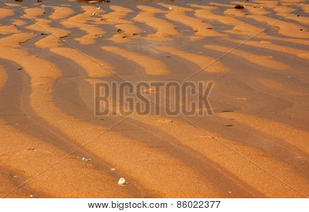 Beach After Outflow Of The Ocean