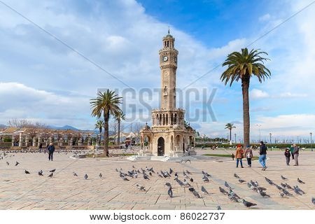 Doves And Ordinary People On Konak Square, Izmir