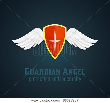Shield And Wings Icon