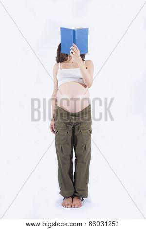Standing Pregnant Reader