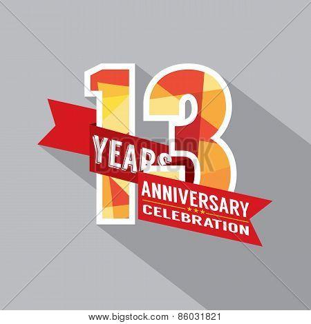 13Th Years Anniversary Celebration Design.