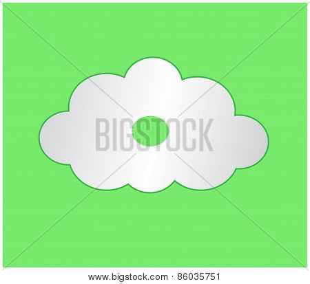 White Cloud With Green Curcle