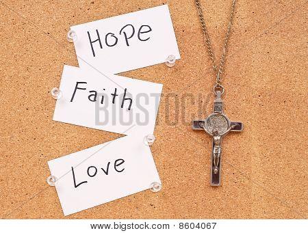 Hope, Faith And Love In God