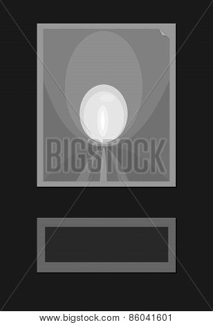 Abstract background of simple black gray white shapes making optical illusion