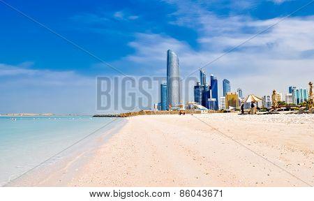 Beach In Abu Dhabi, Uae