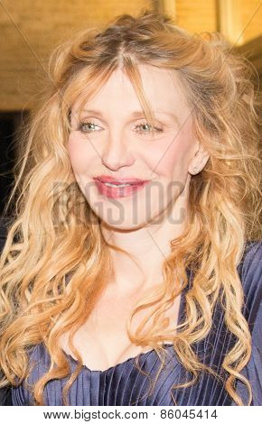BERLIN, GERMANY - FEBRUARY 07: Courtney Love attend the 'Cobain: Montage of Heck' premiere during the 65th Berlinale International Film Festival at Kino International on February 7, 2015