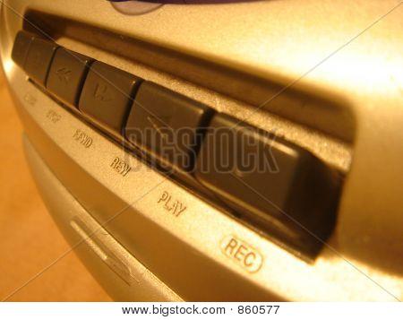 Casstte Player Buttons