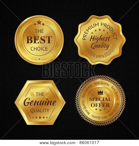 Golden Metal Badges