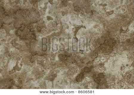 Surface Of The Travertine. Pale Brown Colours.