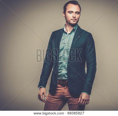 Sharp dressed fashionist wearing jacket