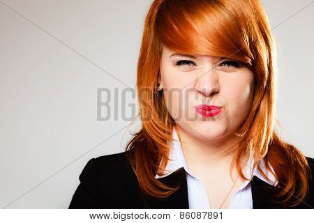 Funny Business Woman Face