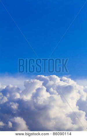Clouds In The Blue Sky Before Rain.