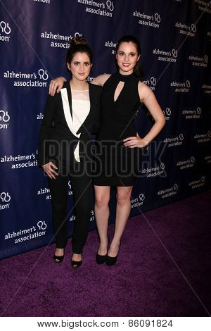 LOS ANGELES - MAR 18:  Laura Marano, Vanessa Marano at the 23rd Annual A Night at Sardi's to benefit the Alzheimer's Association at the Beverly Hilton Hotel on March 18, 2015 in Beverly Hills, CA