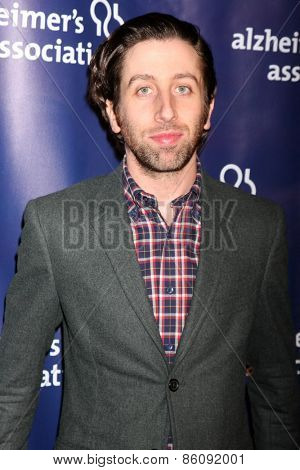 LOS ANGELES - MAR 18:  Simon Helberg at the 23rd Annual A Night at Sardi's to benefit the Alzheimer's Association at the Beverly Hilton Hotel on March 18, 2015 in Beverly Hills, CA