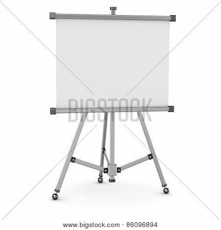 3D Empty Whiteboard