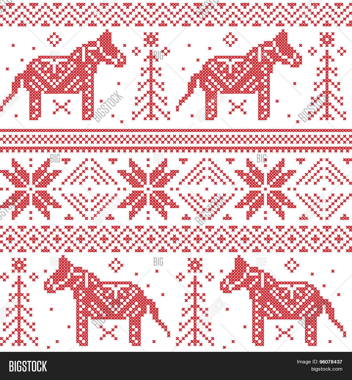 Nordic Christmas Vector & Photo (Free Trial) | Bigstock