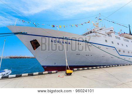 Yalta, Ukraine - May 17: Ship Adriana In Port Of Yalta, Ukraine