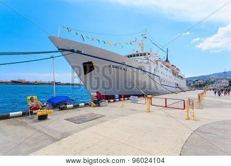 Yalta, Ukraine - May 17: Ship Adriana In Port