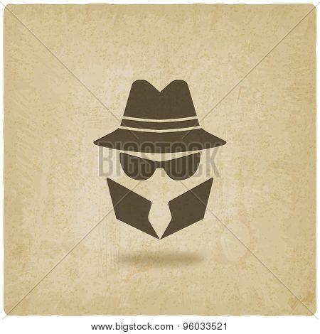 spy icon old background