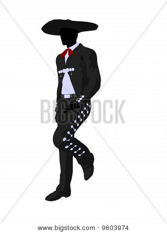 Male Mariachi Silhouette Illustration