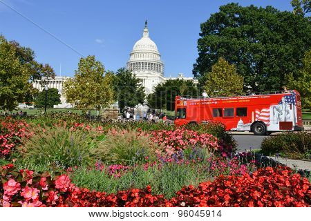 WASHINGTON, DC - SEPTEMBER 07: United States Capitol Building on September 07, 2014 in Washington DC,United States. The Capitol Building is a tourist attraction point in Washington DC.