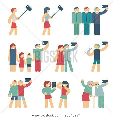 Selfie figures of people