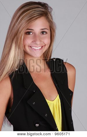 Pretty blond teen girl