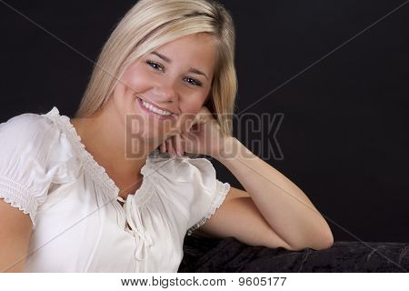 beautiful blond teenage girl.