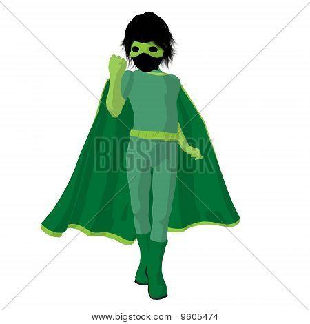 Super Hero Boyl Illustration Silhouette