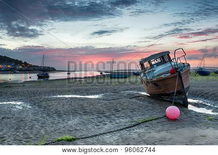 Sunset At Instow